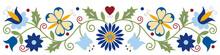 Kashubian Kaszuby Tulip Butterfly Heart Leaves Vine Poland Design Embroidery Polish