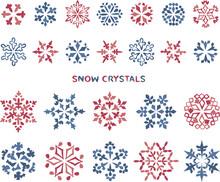 雪の結晶 イラスト素材