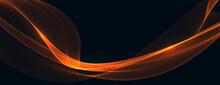 Abstract Orange Wave Background Design