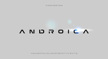 Androica, A Bold And Minimalist Font With A Futuristic Scifi Theme Typeface Design