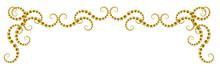 Banner Decorativo Cornice Di Halloween Con Piccole Zucche