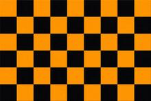 黒とオレンジのタイルのボード