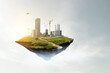 Leinwandbild Motiv Real estate concept . Mixed media