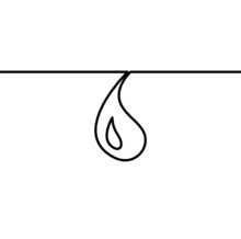 Abstract Drop As Line Drawing On White Background. Vector
