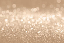 Bokeh Defocused Gold Abstract Christmas Style