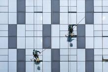 Suburb Of Chongqing City Cleaning Walls