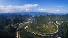 View Of The Guilin Lijiang Mountains
