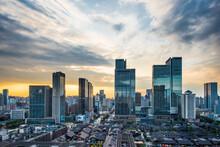 Chengdu Skyline Scenery With High Building