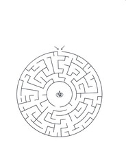 Halloween Maze Labyrinth Game For Kids. Labyrinth Logic Conundrum. Three Entrance And One Right Way To Go. Vector Illustration For Halloween