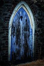 A Old Door Aberaeron Harbour West Wales