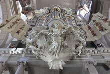 Amsterdam Westerkerk Church Sculpted Organ Detail, Netherlands