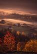 Jesienny poranek w Beskidach