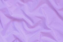 Lilac Crumpled Fabric Background
