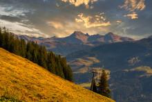 Ausblick Nähe Jochberg In Tirol Österreich