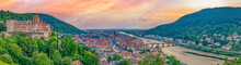 Sonnenuntergang Panorama über Heidelberg