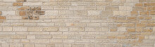Background Of Old Sandstone Brick Wall Texture