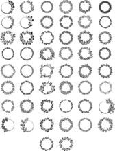 Set Of Black And White Icons