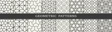 Set Of Geometric Seamless Patterns. Abstract Geometric Graphic Design Simple Pattern. Seamless Geometric Lines Pattern.