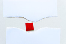 Paper With A Red Square