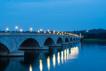 Memorial Bridge And The Potomac River At Dawn On A Late Summer Morning