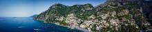 Vista Aerea Della Città Di Positano, Costiera Amalfitana