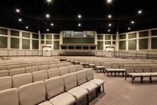 Empty Modern Church Sanctuary