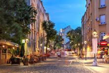 Evening On Skadarlija, The Bohemian Quater Of Belgrade, Serbia