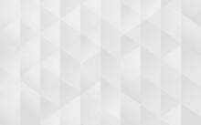 シルバーの抽象背景、ランダムな三角形の集まり、ベクター素材