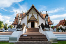 Wat Phumin Temple In Nan Province Of Thailand. The Most Famous And Ancient Royal Temple Of Nan Province With Almost 400 Years Old.