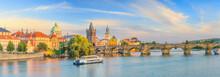 Famous Iconic Image Of Charles Bridge And Praguecity Skyline Photo