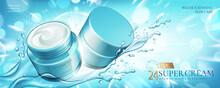 Moisture Cream Jar Ads