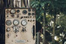 Old Hidraulic Control Dashboard On  Truck