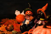 ハロウィン・ジャックオーランタン人形