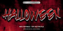 3d Editable Text Effect Halloween Style With Cracked Wall Background