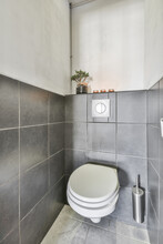 Minimalist Style Bathroom With Toilet