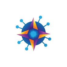 Star Logo Cardinal Vector Design Illustration