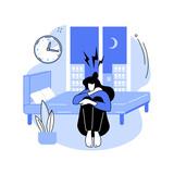 Sleep behavior disorder abstract concept vector illustration.