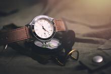 Cream Men Wristwatch