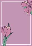 Composition of pink flower icons on pink background