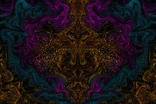 Abstract Dark Background With Ornament And Glitter