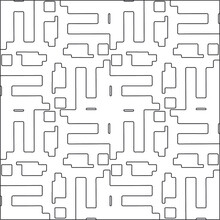 Vector Pattern With Symmetrical Elements . Repeating Geometric Tiles From Striped Elements.