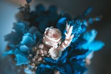 Flores Azules Horizontal
