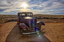 Route 66 Relic At Petrified Forest AZ