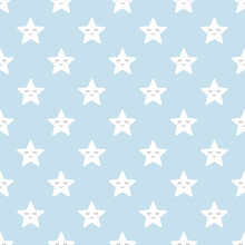 Stars Cartoon Cute Pastel Seamless Pattern For Background, Illustration, Wallpaper, Wrapping Paper, Fabric