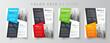 Flyer brochure design template set color, creative leaflet size A4, trend cover
