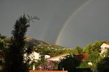 Tęcza na niebie po burzy, Seget Vranjica Chorwacja