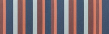 Panorama Of Fabric Texture With Multi-colored Stripes.  Colored Embroidery Pattern And Background Seamless