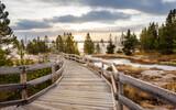 Fototapeta Kawa jest smaczna - Boardwalk in Yellowstone