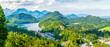 canvas print picture - Alpenpanorama von Neuschwanstein aus gesehen