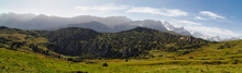 Panorama Of Sinkholes Near Gryden In The Swiss Alps In Autumn